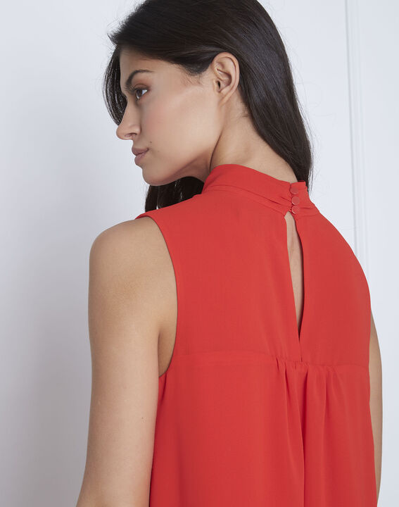 Robe rouge col montant Heloise (4) - Maison 123