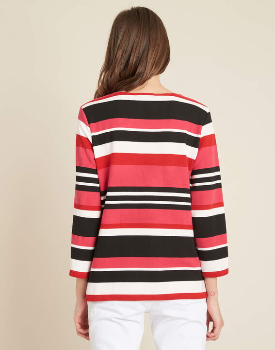 Eboreal striped red sweater with bow (4) - 1-2-3