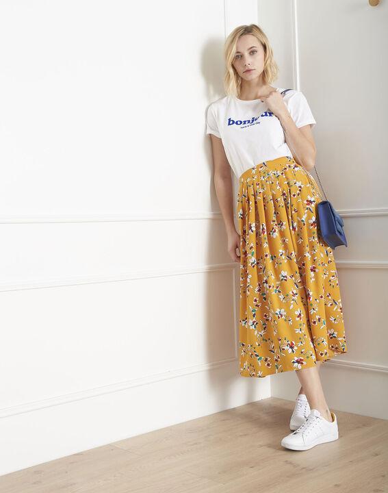 Jupe jaune imprimé fleuri Selma (1) - Maison 123
