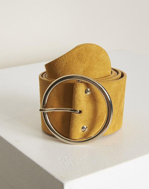 Ceinture en cuir large ambre Kleopatre PhotoZ | 1-2-3