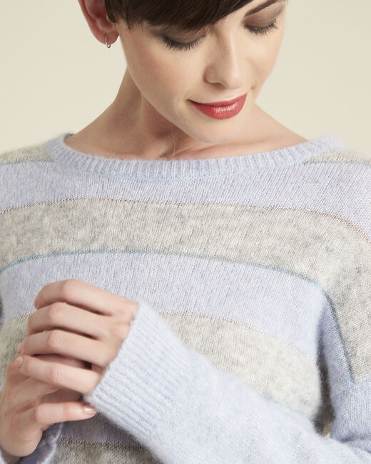 Bound alpaca and cool striped azure sweater (1) - 1-2-3