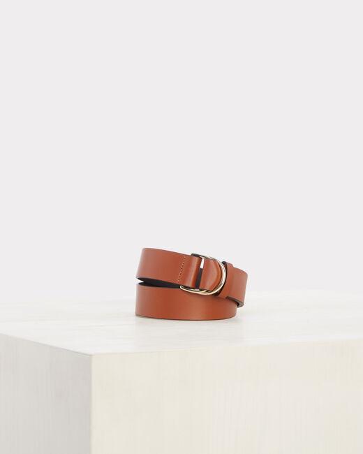 Ondine wide camel leather belt (1) - 1-2-3