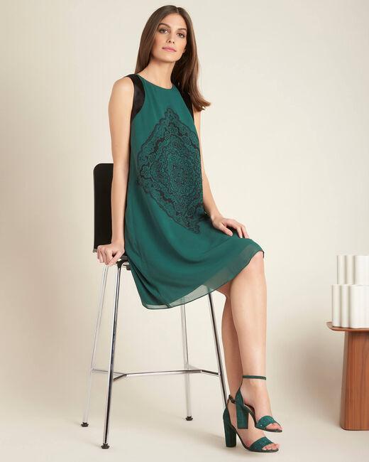 Hellgrünes Print-Kleid Pérou (1) - 1-2-3