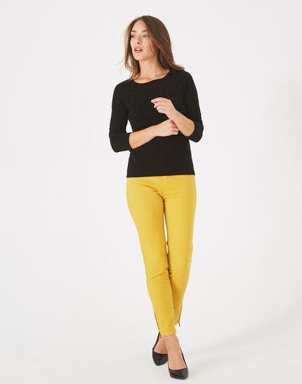 Pluie black sweater with diamante and round neck PhotoZ | 1-2-3