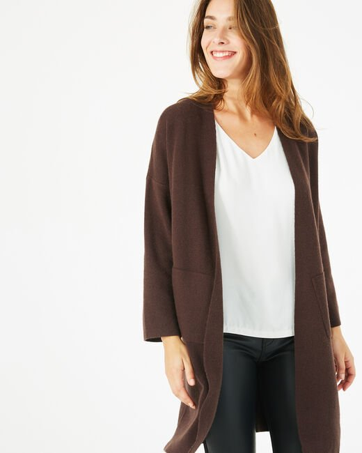 Panda long dark brown jacket (2) - 1-2-3