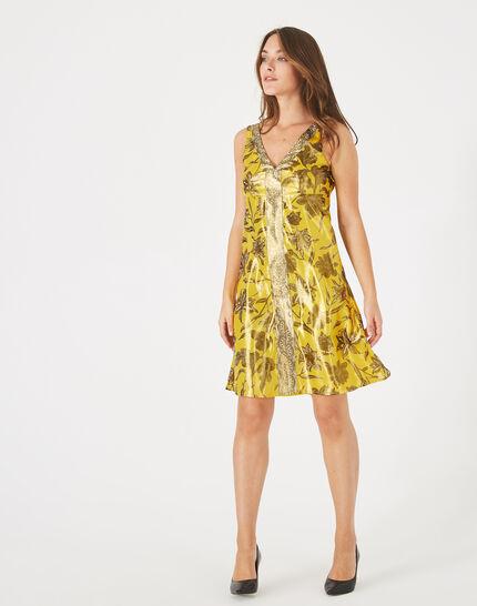 Robe jaune imprimé brillant Bonita PhotoZ | 1-2-3