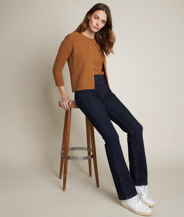 Le Vintage flare : jean tressé brut Saphir PhotoZ | 1-2-3