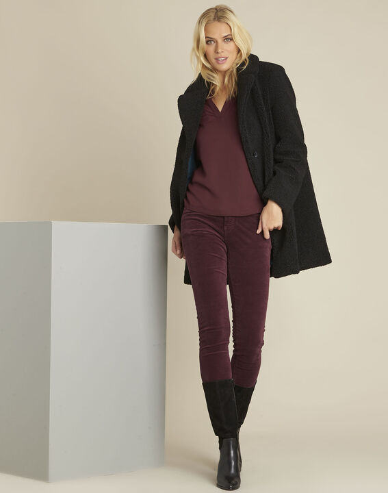 Bordeaux slim-fit jeans van fluweel Vendome (2) - Maison 123