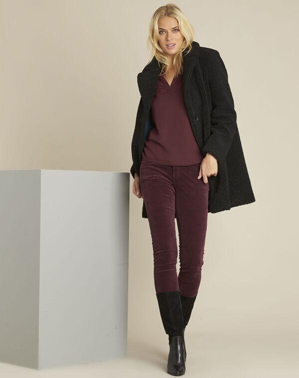 Vendome Bordeaux slim-cut velvet jeans (2) - 1-2-3