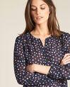 Guilene navy blue heart printed blouse (1) - 1-2-3