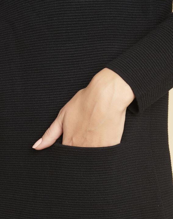 Robe pull noire col montant Belinda (3) - 1-2-3