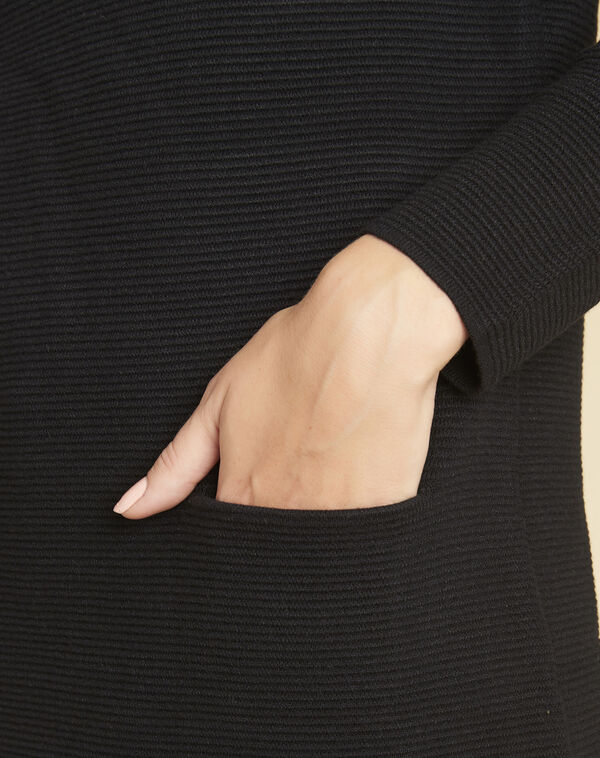Robe pull noire col montant Belinda (2) - 1-2-3