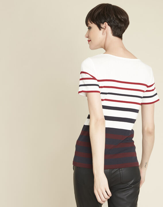 Gasayat stripy T-shirt with rounded neckline (4) - 1-2-3