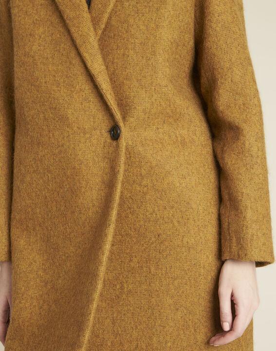 Safrangelber Mantel aus Kochwolle Erica (3) - 1-2-3