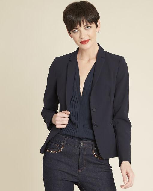 Veste courte de tailleur bleu marine Eve (1) - 1-2-3