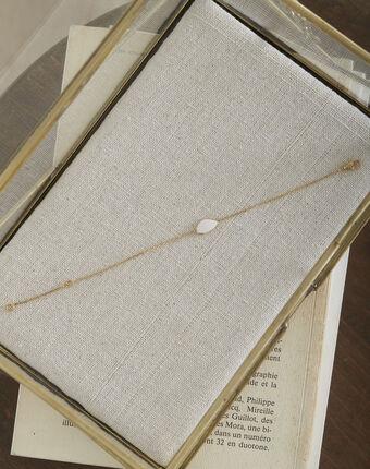 Bracelet doré larme blanche tarsana blanc.