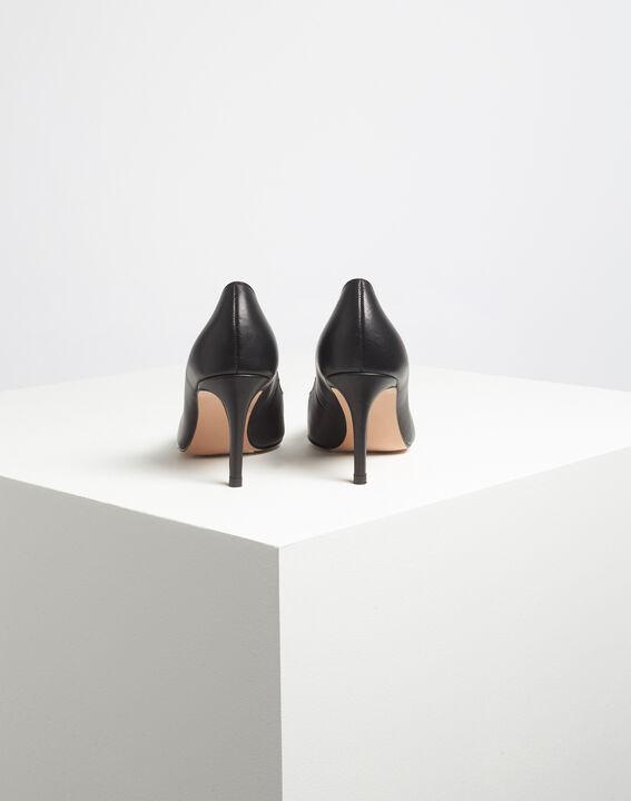 Kelly pointed black leather heels (4) - 1-2-3