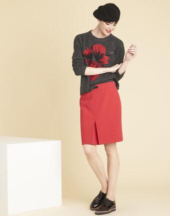 Jupe rouge compacte détail boucle angel grenade.