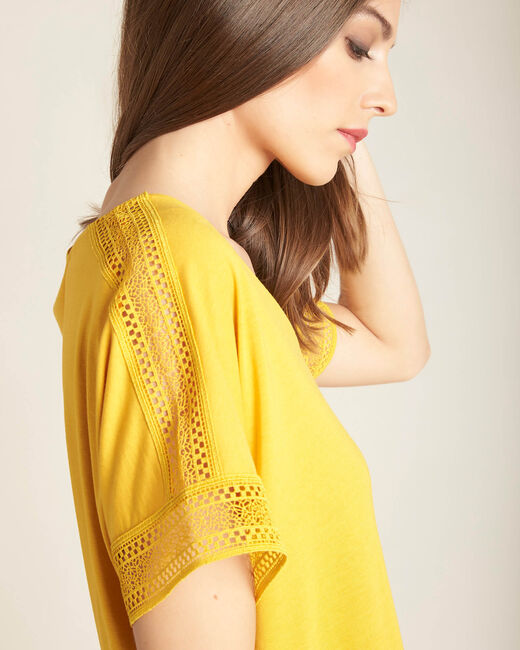 Estelle yellow lace T-shirt (2) - 1-2-3