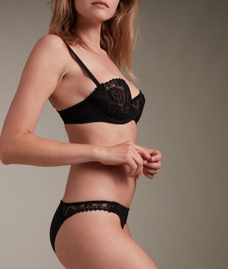 Culotte en broderie de coton française noire Lisa PhotoZ | 1-2-3