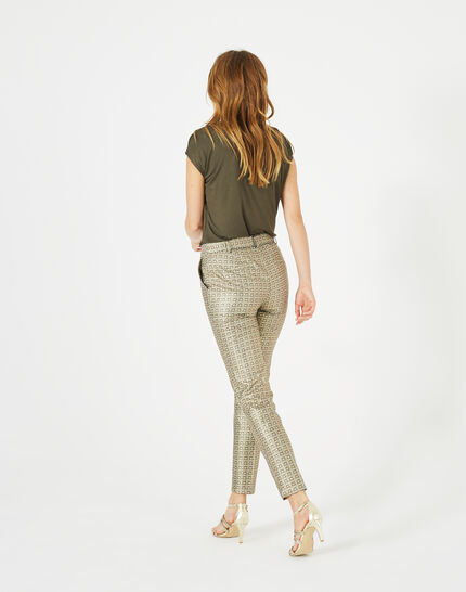 Pantalon doré imprimé Viva (5) - 1-2-3