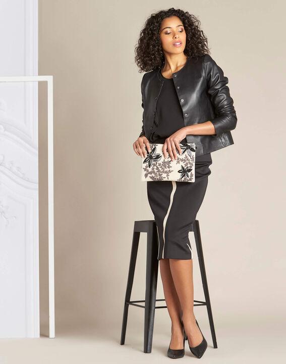 Lotus black skirt with contrasting trim (2) - 1-2-3