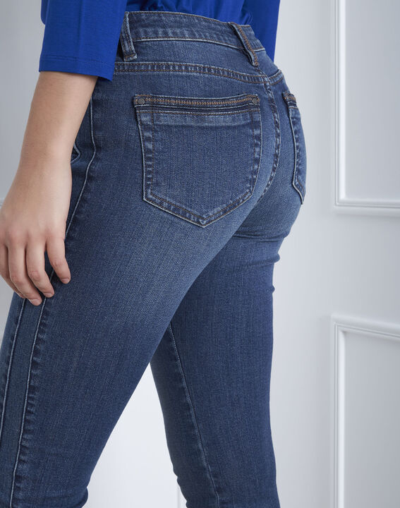 Opéra slim-cut indigo jeans with zipped detailing (4) - 1-2-3