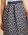 Isis diamond printed navy dress (1) - 1-2-3