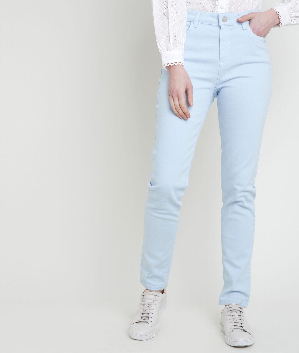 L'iconique slim jean en coton recyclé azur Suzy PhotoZ | 1-2-3