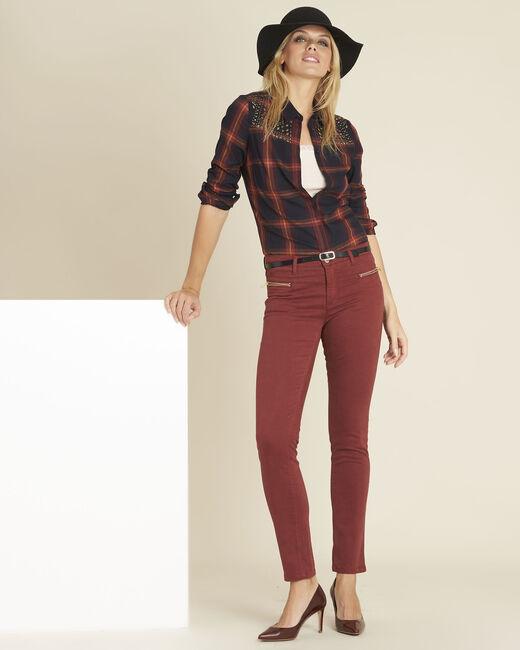 Germain mahogany straight-cut jeans with zipped pockets (1) - 1-2-3