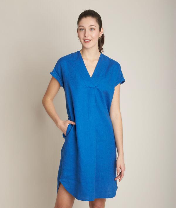 Robe en lin bleue Christina PhotoZ | 1-2-3