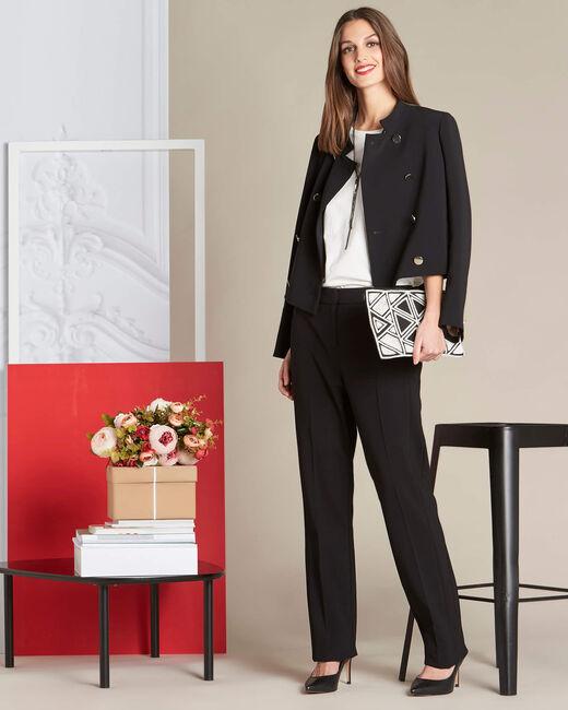 Pantalon noir droit Vasco (1) - 1-2-3