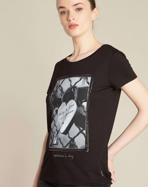 Schwarzes T-Shirt mit Schloss-Print Enamorar PhotoZ | 1-2-3