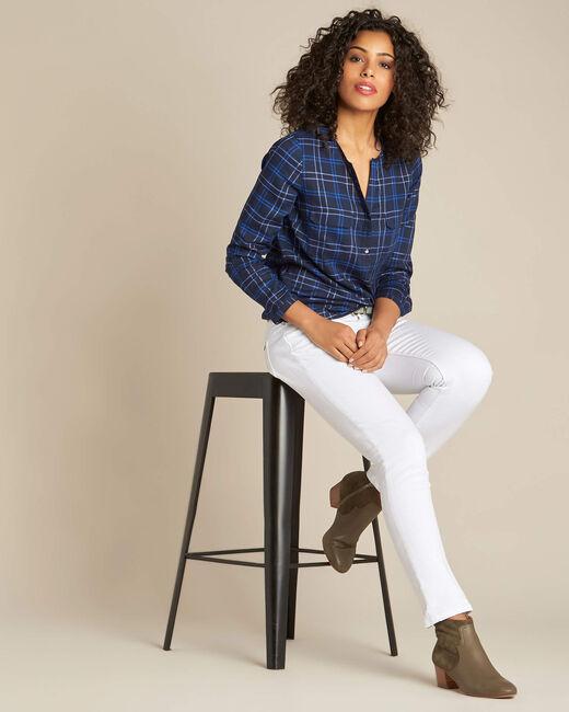 Murielle navy blue check shirt (1) - 1-2-3