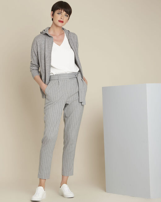 Hemy grey striped belted trousers (1) - 1-2-3
