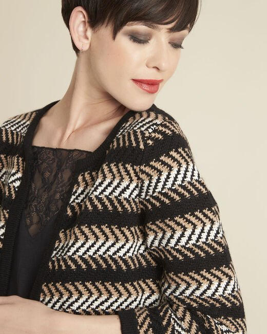 Bellini black striped cardigan (1) - 1-2-3