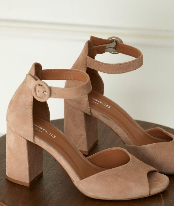 Sandales nude à talons en cuir Jade PhotoZ   1-2-3