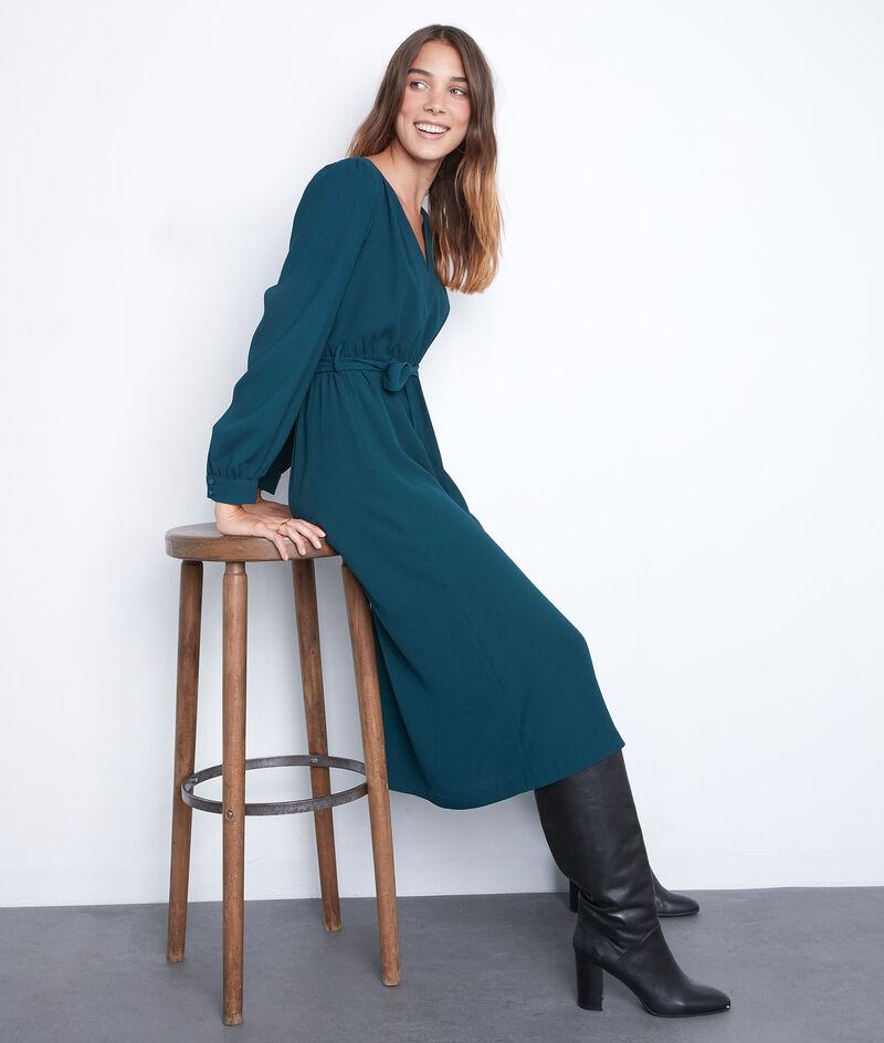 Halflange groene jurk in crêpe Star PhotoZ | 1-2-3