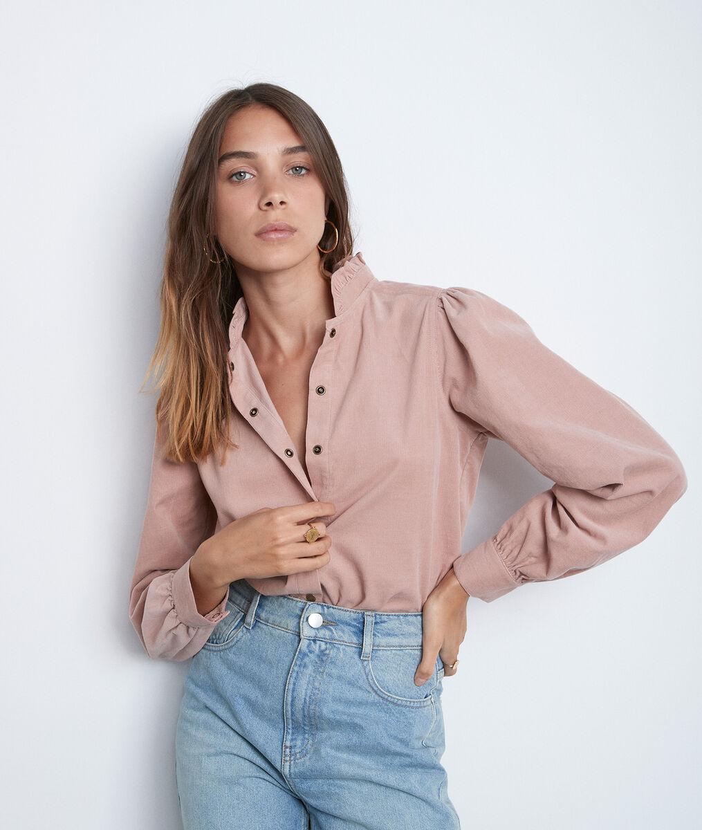 Roze overhemd Jeraldine met pofmouwen  PhotoZ | 1-2-3