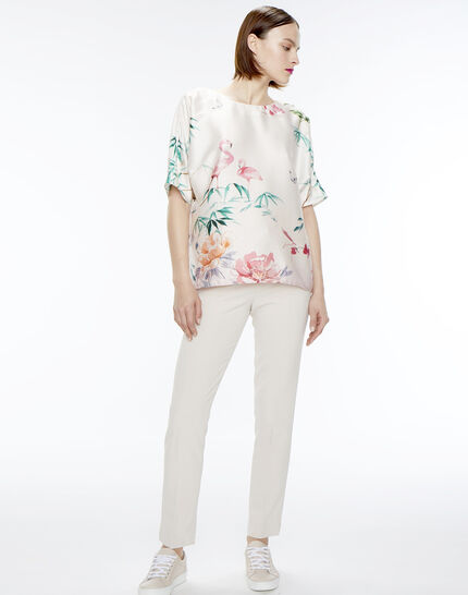 Lara beige tailored trousers (2) - 1-2-3