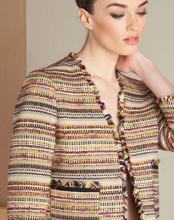 Veste en tweed et poches plaquées Citrouille PhotoZ | 1-2-3