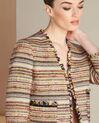 Veste en tweed et poches plaquées Citrouille (1) - 1-2-3
