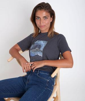Tee-shirt imprimé en polyester recyclé Djack