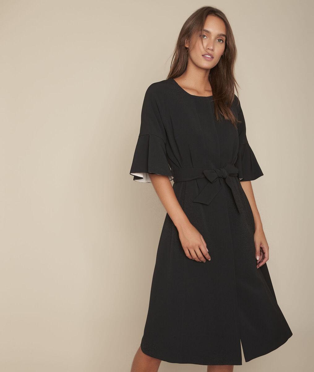 Kompaktes, schwarzes Kleid Reine