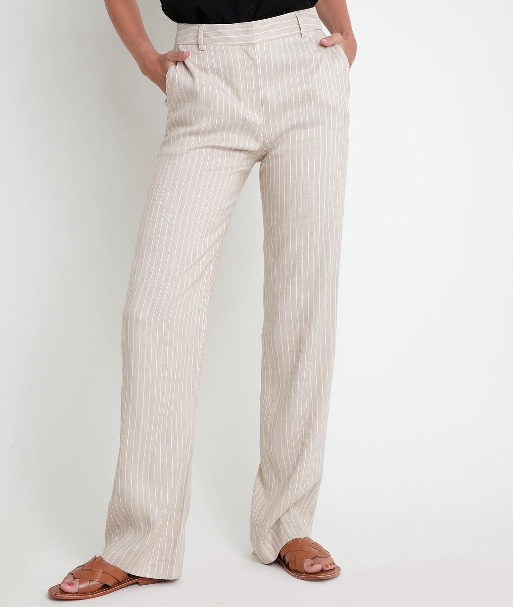 Pantalon large beige rayé Milo PhotoZ | 1-2-3