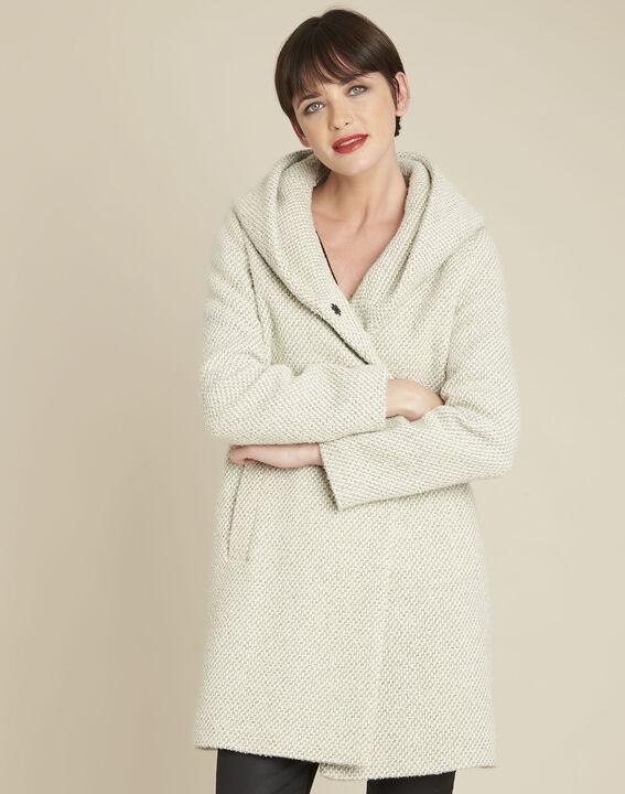 Manteau écru capuche laine mélangée Erwin PhotoZ | 1-2-3