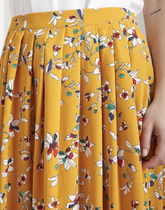 Jupe jaune imprimé fleuri Selma (3) - Maison 123