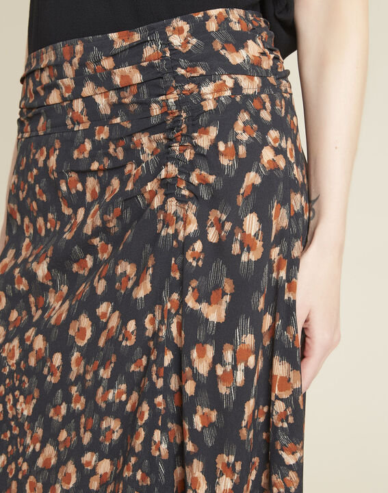 Astuce black skirt with an animal hide print  (3) - Maison 123