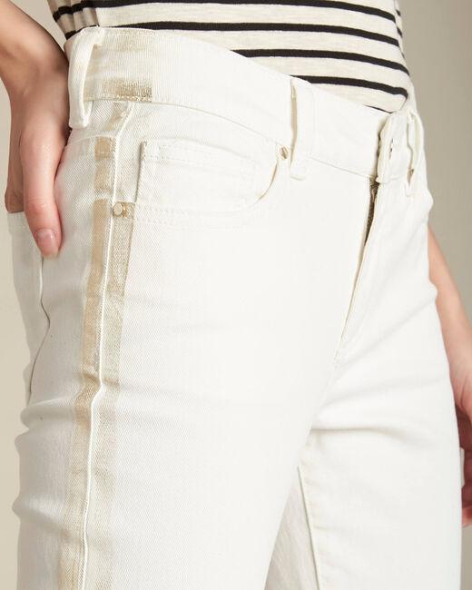 Pantalon slim blanc bande or Turenne (2) - 1-2-3