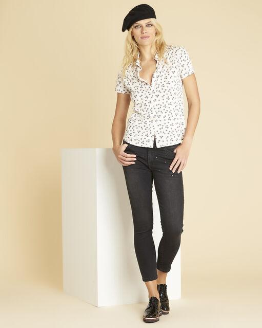 Tee-shirt noir imprimé Laura (2) - 1-2-3
